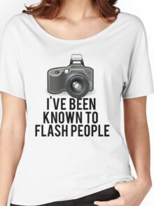 Flash People Funny Photographer Women's Relaxed Fit T-Shirt
