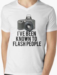 Flash People Funny Photographer Mens V-Neck T-Shirt