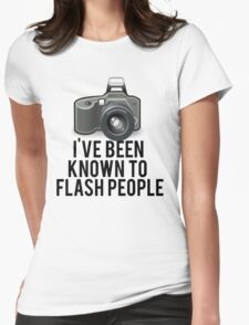 Flash People Funny Photographer Womens Fitted T-Shirt