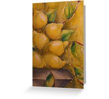 I Limoni 'Still Life' © Patricia Vannucci 2007 Greeting Card