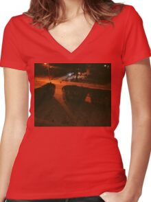 7:44, Stopped Snowing Women's Fitted V-Neck T-Shirt