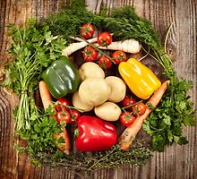 Vegetables and herbs nest arrangement by naturalis