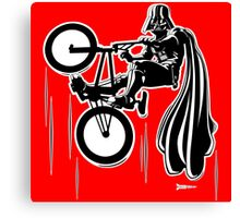 Darth Vader shredding on his BMX Canvas Print