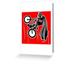 Darth Vader shredding on his BMX Greeting Card