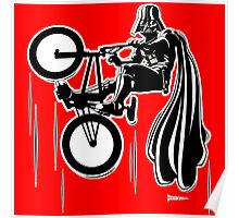 Darth Vader shredding on his BMX Poster