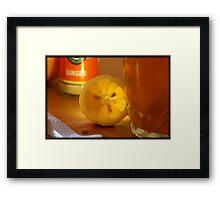 Winter tea Framed Print