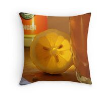 Winter tea Throw Pillow