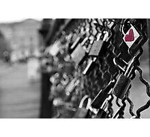 Love Locks in Paris Photographic Print