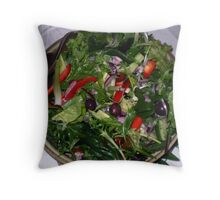 Yummy healthy salad... Throw Pillow