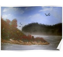 Beautiful Landscape Tranquil Countryside Poster