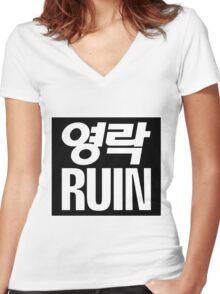 Elite Ruin Women's Fitted V-Neck T-Shirt