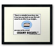 Garmadon's Creamy Biscuits Framed Print