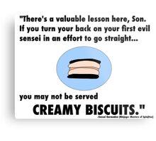 Garmadon's Creamy Biscuits Metal Print