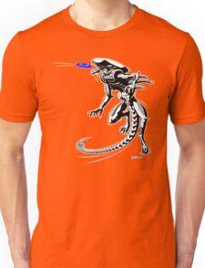 Alien Loves to Play Frisbee Unisex T-Shirt