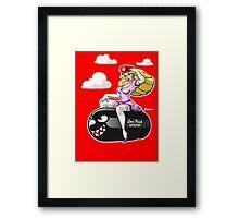 Princess Peach love Bullet Bill Framed Print