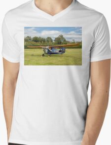 Aeronca C3 G-ADRR post restoration engine runs Mens V-Neck T-Shirt