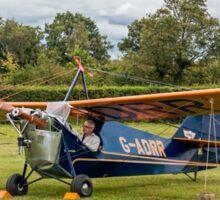 Aeronca C3 G-ADRR post restoration engine runs Sticker
