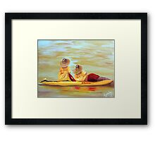 Lifesavers Watching................ Framed Print