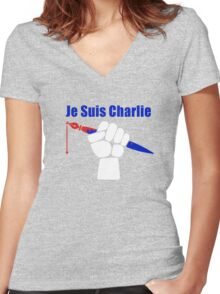 Je Suis Charlie Women's Fitted V-Neck T-Shirt