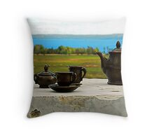 Have a cuppa tea Throw Pillow