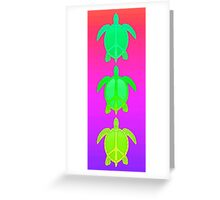 Peace Turtles Greeting Card