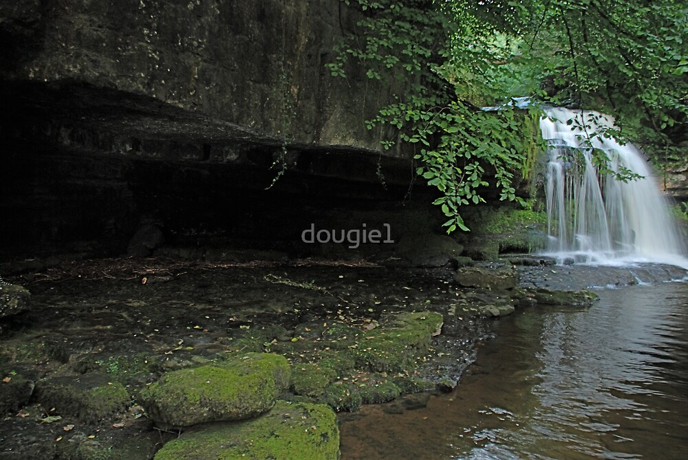 West Burton Falls and the cave by dougie1