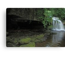 West Burton Falls and the cave Canvas Print