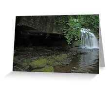 West Burton Falls and the cave Greeting Card