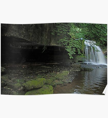 West Burton Falls and the cave Poster