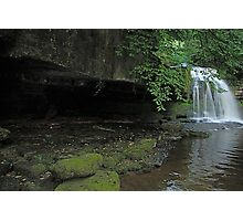 West Burton Falls and the cave Photographic Print