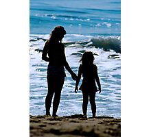 Mother & Daughter Beach Silhouette Photographic Print