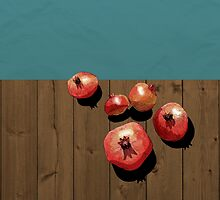 Pomegranate on the Edge by gizemakdogan