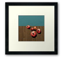 Pomegranate on the Edge Framed Print