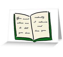 Pride and Prejudicee Greeting Card