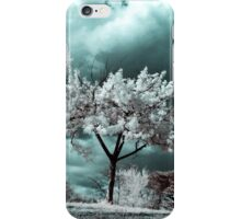 Infrared Tree On Hill iPhone Case/Skin