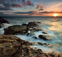 Fantail Bay Sunset Blast by Ken Wright