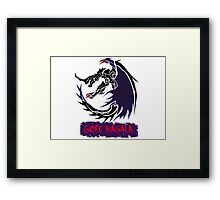 The Circular Black Eclipse Wyvern Framed Print