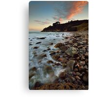 Homunga Bay Sunset Blush Canvas Print
