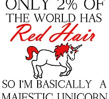 RED HAIR MAJESTIC UNICORN by Divertions