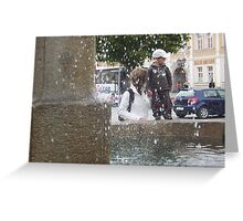 """ Through the drops "" Greeting Card"