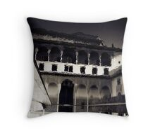 The Other Red Fortress Throw Pillow