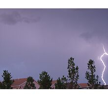 Lightening On The Side Photographic Print