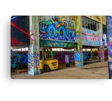 Fork Lift In Powerhouse Canvas Print