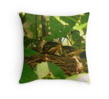 Nest Babies Throw Pillow