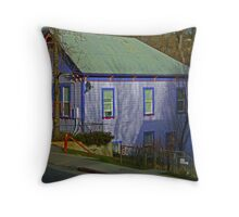 Retro Gingerbread House Throw Pillow
