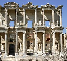 Library of Celsus in Ephesus, Turkey by Anne-Marie Bokslag