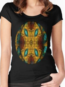 Egipcian Mandala Women's Fitted Scoop T-Shirt