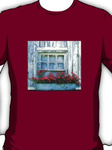 Floral Box Distressed Window T-Shirt