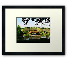 Reflections of a Japanese Garden - Hunter Valley Framed Print