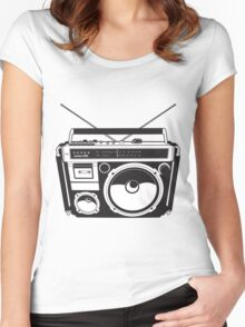 Retro radio Women's Fitted Scoop T-Shirt
